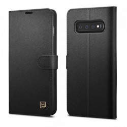 Husa Samsung Galaxy S10 Plus Spigen La Manon Wallet - Black
