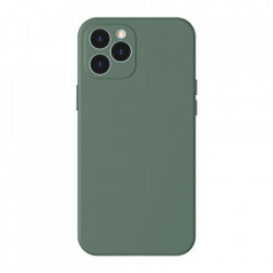 Husa telefon Baseus Liquid Silica Gel Case Flexible iPhone 12 PRO , Dark green (WIAPIPH61P-YT6A)