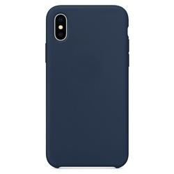 Husa telefon din silicon flexibil cu interior din material impotriva zgarieturilor , Gema Mixt pentru iPhone X/Xs , albastru inchis