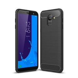 Husa telefon TPU model carbon , Gema Mixt pentru Samsung Galaxy J6 2018 J600 , negru