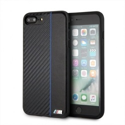 Husa telefon Tpu + Pu Carbon , tip bumper , Bmw pentru Apple iPhone 7/8 Plus , neagra