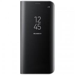 Husa Tip Carte Mirror Clearview, Huawei P20 Pro, Negru
