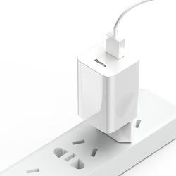 Incarcator priza Baseus Charging Quick Charger Travel Charger Adapter Wall Charger USB Quick Charge 3.0 QC 3.0 biały white (CCALL-BX02)