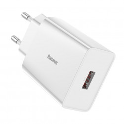 Incarcator priza Baseus fast charge USB 18 W 3 A Quick Charge 3.0 alb (CCFS-W02)