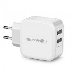 Incarcator retea 2 x USB BlitzWolf BW-S6 30W alb