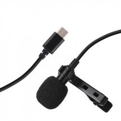 Lavaliera/microfon Puluz cu fir 1,5m USB-C / Type-C PU425