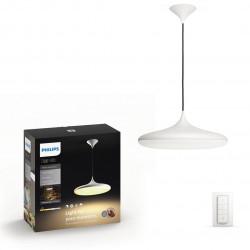 Lustra Philips HUE Cher, LED WiFi, lumina alba reglabila calda-rece, Alb