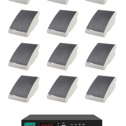 Pachet Sonorizare 120W de perete, FM+USB+Bluetooth, DSPPA MP120UB+12xDSP106II