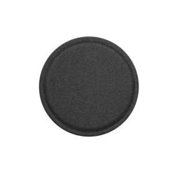 Placa de metal, TYPEC, autoadeziva acoperita din piele PU pentru suporturi magnetice auto 40 mm negru