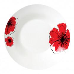 SET 12 FARF ADAN. 20CM,RED FLOWERS PETAL