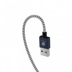 Set 2 cabluri de date si incarcare Dux Ducis K Two , 1 x Micro Usb 100 cm 5V 2A si 1 x Micro Usb 20 cm 5V 3A , albastru