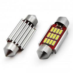 Set 2 x LED CANBUS 12SMD 4014 Festoon 39mm White 12V/24V
