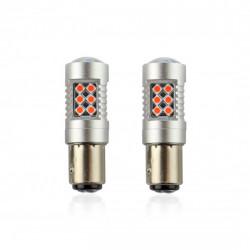 Set 2 x LED CANBUS 24SMD 3030 1157 (P21/5W) Red 12V/24V