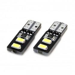 Set 2 x LED CANBUS 4SMD 5730 T10 (W5W) White
