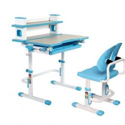 Set birou si scaun copii ergonomic, reglabil in inaltime, ErgoK TOSCA Albastru