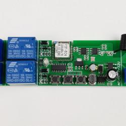 SmartWise 5V-32V 2 canale Wi-Fi + comutator inteligent cu releu RF, cu suport pentru comutator de contact uscat si modul de comutare momentana, compatibil eWeLink / Sonoff