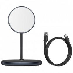 Stand cu incarcare wireless Baseus (compatibil iPhone MagSafe) 15 W black (WXSW-01)