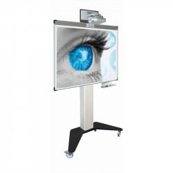 Stand mobil motorizat P10 + Whiteboard Magnetic Ceramic SMIT 120x192 cm (16:10)