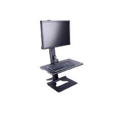 """Stand monitor de masa cu baza fixa Multibrackets 3156, pentru ecrane < 30"""" si 7.5 kg, Negru"""