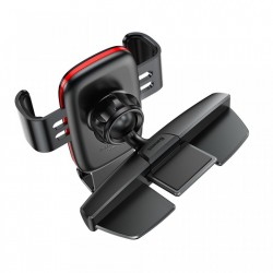 Suport auto cu rotire 360 pentru telefon cu prindere in fanta pentru CD , Baseus Metal Age Gravity , negru
