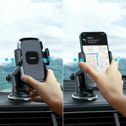 Suport auto pentru telefon , prindere pe bord, Joyroom black (JR-ZS259)