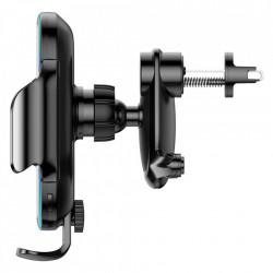 Suport auto telefon cu deschidere si inchidere automata si incarcare Wireless de 15 w , Baseus , negru (WXHW03-01)