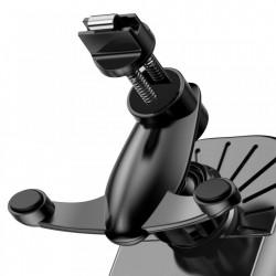 Suport auto telefon cu incarcare wireless, Baseus Smart Vehicle Bracket, cu inchidere electrica, montabil la grila ventilatie, negru