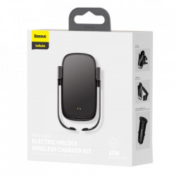 Suport Baseus telefon auto, incarcare wireless, 10W - negru