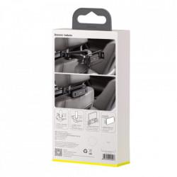 """Suport reglabil pentru tetieră reglabil pentru montaj auto Baseus, pentru tablete și smartphone-uri 4,7 """"- 12,3"""" negru (SULR-A01)"""