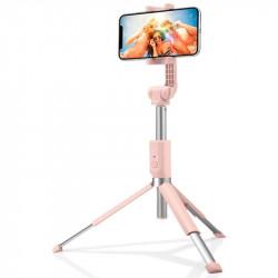 Suport Selfie Stick Tripod Spigen Aluminum Monopod - S540W - Peach Pink