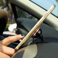 Suport telefon magnetic auto, Baseus 360, cu banda adeziva, roz