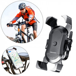 Suport telefon pentru bicicleta,trotineta electrica, motocicleta Wozinsky 360 black (WBHBK2)