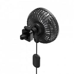 Ventilator Baseus auto cu suport pentru grila ventilatie - negru