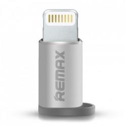 Adaptor micro USB la Lightning argintiu, Remax