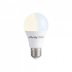 Bec LED inteligent Shelly Duo, Wi-Fi, E27, 9W, Temperatura culoare 800 LM