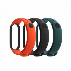 Bratara Xiaomi (originala) pentru Mi Band 5, TPU (set 3 buc.) – Negru, Orange, Teal