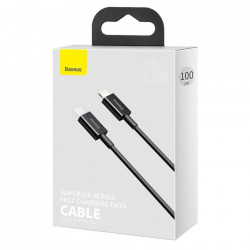 Cablu Baseus Superior USB Type C - Lightning fast charging data cable Power Delivery 20 W 2m black (CATLYS-A01)