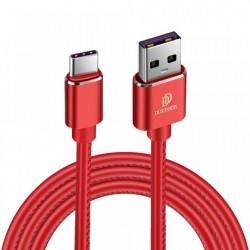 Cablu de date Dux Ducis K-Max , Usb la USB-C , 5V , 5A , SuperCharge QC 3.0 , 1M , rosu
