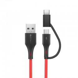 Cablu de date Micro USB + adaptor USB-C BlitzWolf BW-MT3 3A 0,91m