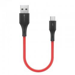 Cablu de date Micro-USB BlitzWolf BW-MC12 , 2A, 0.3 m , rosu