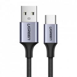 Cablu de date UGREEN USB la USB Type-C 3A - 0.5m gri