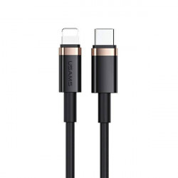 Cablu USAMS USB-C la Lightning 1.2M incarcare rapida 20W negru