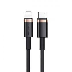 Cablu USAMS USB-C la Lightning 2M incarcare rapida 20W negru