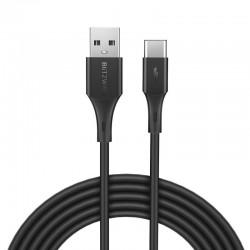 Cablu USB-C BlitzWolf BW-TC15 3A 1.8m (negru)