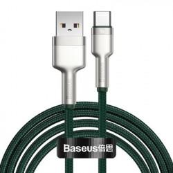 Cablu USB tip C Baseus Cafule Series Metal Data USB - 40 W (10 V / 4 A) SCP (Protocol Huawei SuperCharge) 2 m verde
