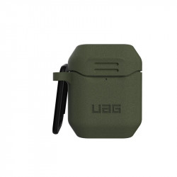 Carcasa antimicrobiana UAG Standard Issue Silicone Apple AirPods Olive