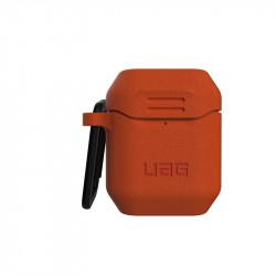 Carcasa antimicrobiana UAG Standard Issue Silicone Apple AirPods Orange