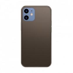 Carcasa rigida din sticla mata Baseus cu cadru flexibil pentru iPhone 12 Pro / iPhone 12 Negru (WIAPIPH61P-WS01)