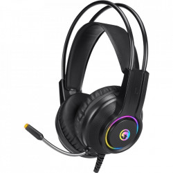 CASTI MARVO HG8935 RAINBOW, STEREO, 3.5MM, USB, NEGRU