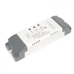 Comutator cu releu inteligent SmartWise 7V-32V cu 2 ganguri (în caz), cu contact uscat și comutator momentan, compatibil eWeLink / Sonoff, Wi-Fi + RF